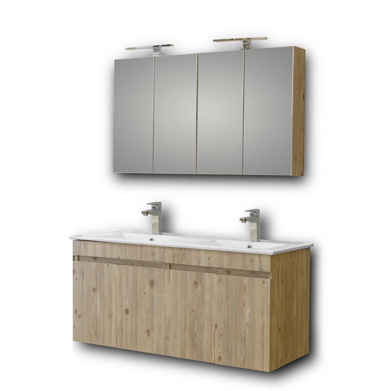 Σετ μπάνιου Sonoma καθρέπτης νιπτήρας ντουλάπια